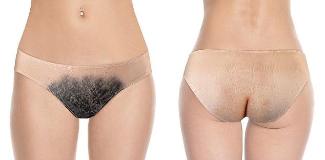 Hairy girl panties