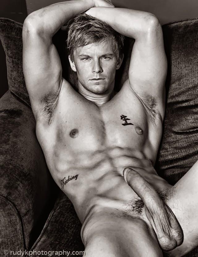 Naked men with huge hard cocks