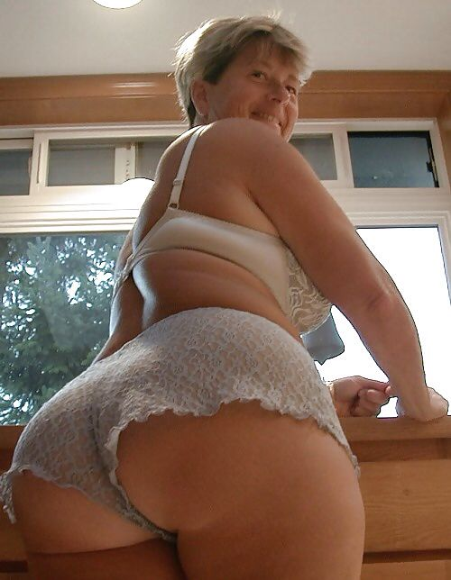 mature granny ass Big