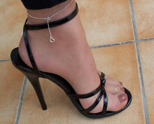 Sexy pantyhose sandals