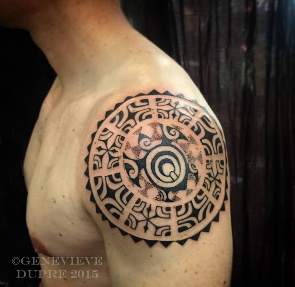designs tattoo Polynesian shoulder