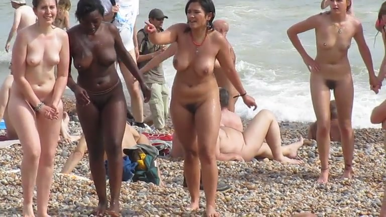Nude beach women