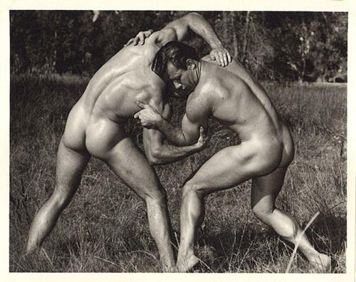 Nude greek male wrestling naked