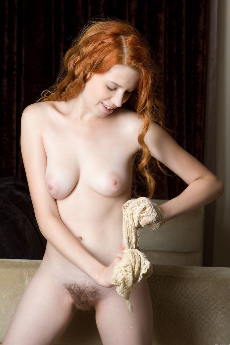 Natural hairy nude girls pussy