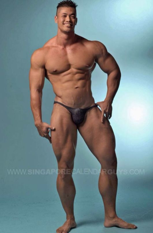 Bodybuilder asian muscle nude