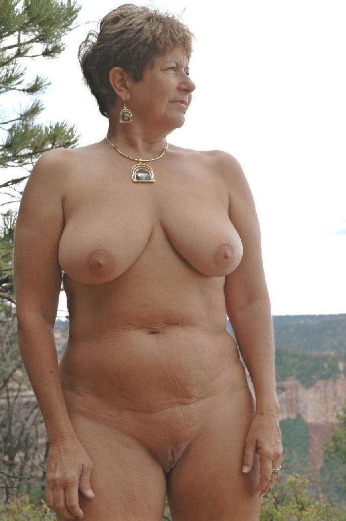 Mature woman nudist