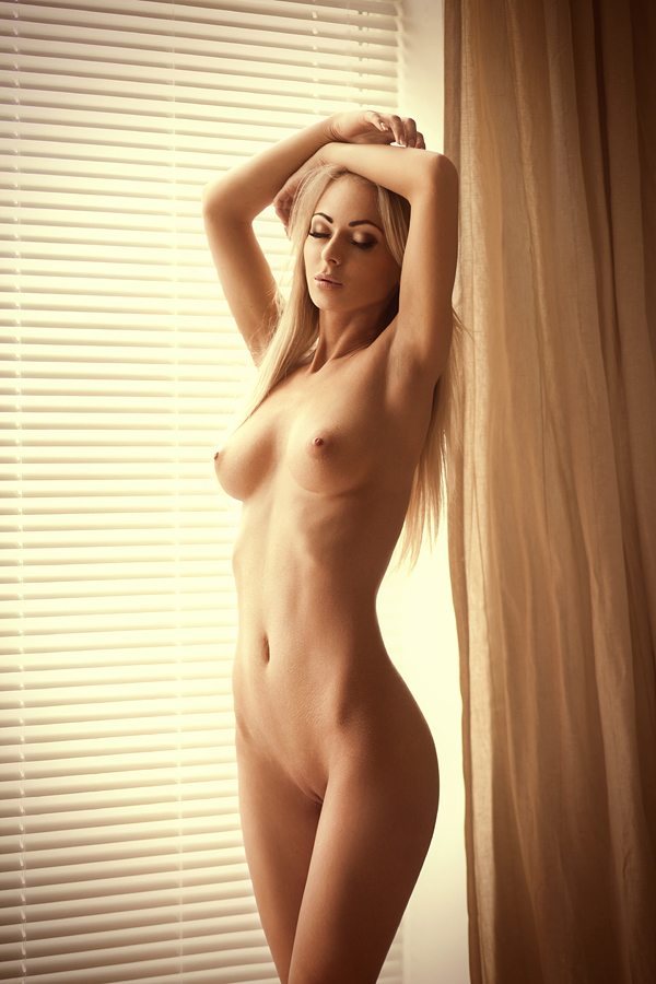 Nude girls standing up