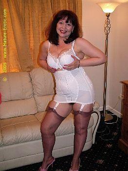 girdles Mature stockings women