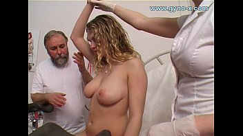 Squirting girls in gyno exam