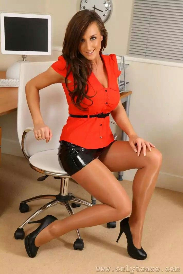 Office sex pantyhose photo leg