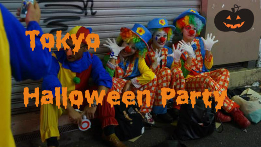 Crazy halloween street party