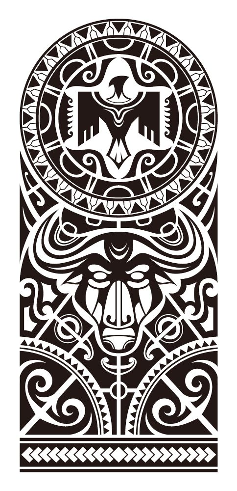 Polynesian shoulder tattoo designs