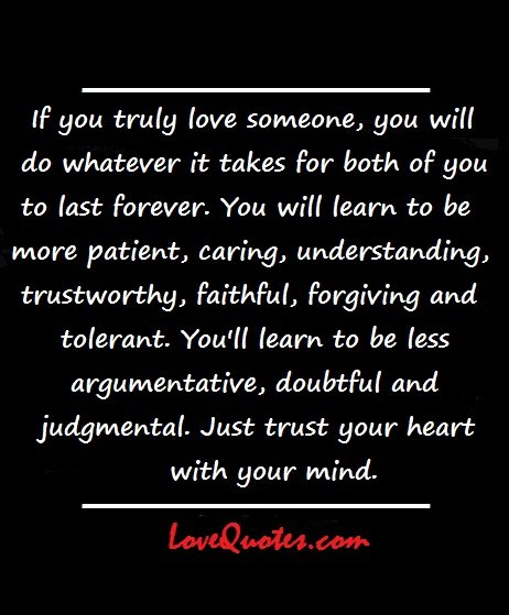 truly love you someone When