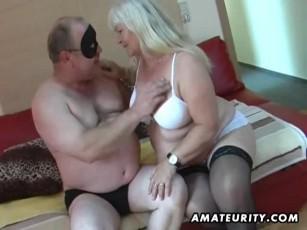 Mature chubby couple