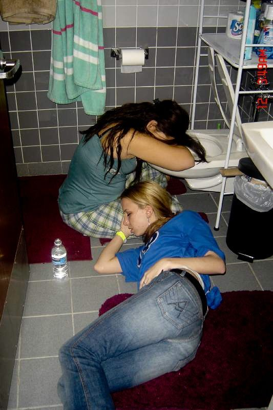 Sleeping drunk girl passed out teen