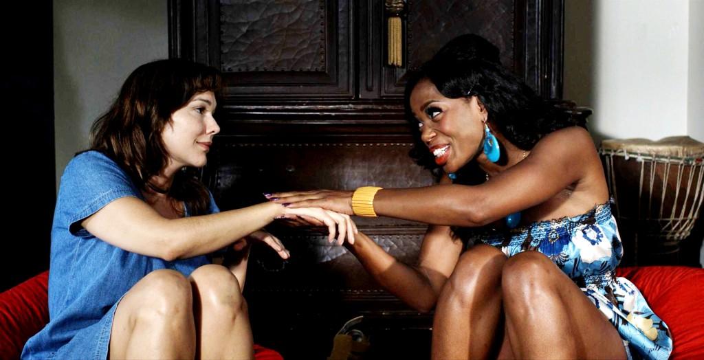 Ebony lesbian sex on beach