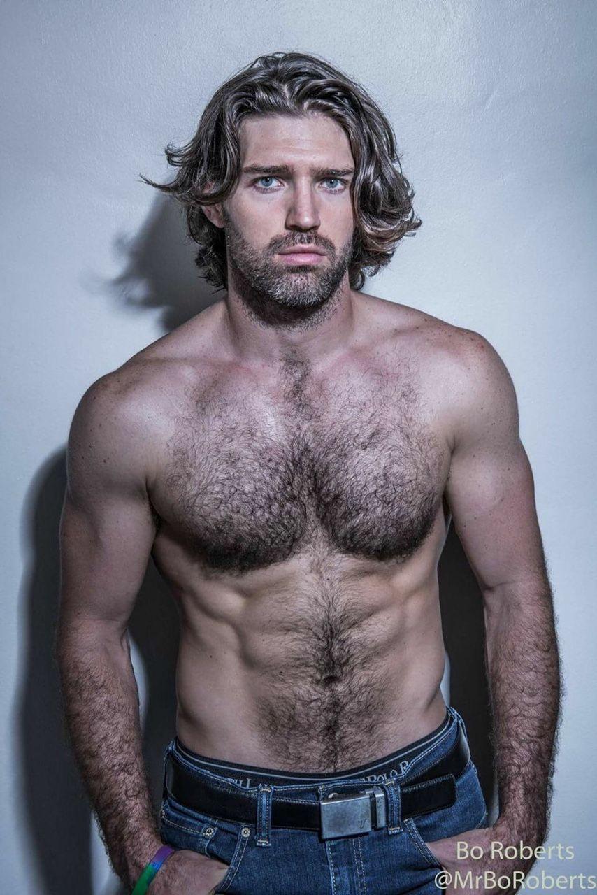Blonde gay hairy muscle men