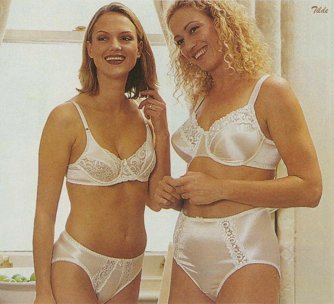 Satin panties and bra fetish