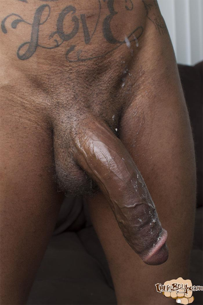 Big black cock jerking