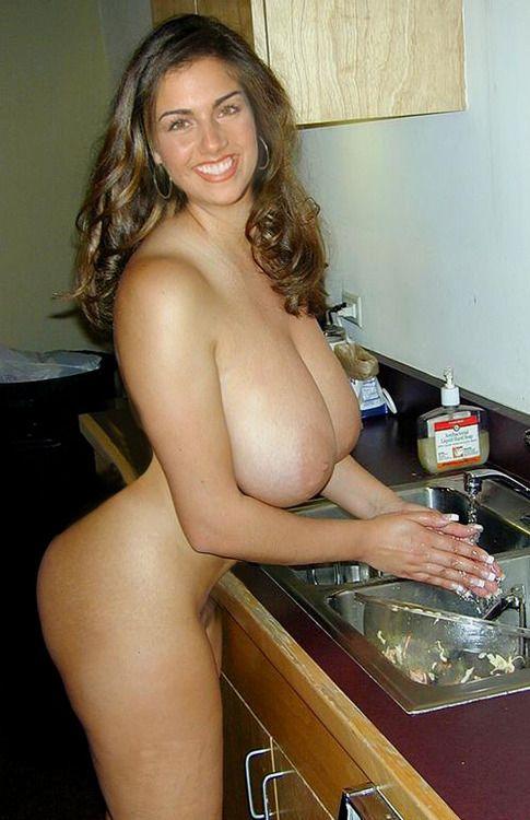 My mom has big tits