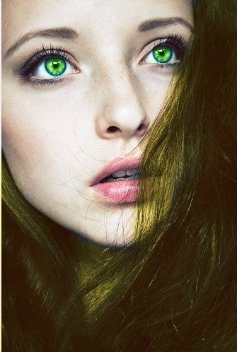 Green eyed girl nude