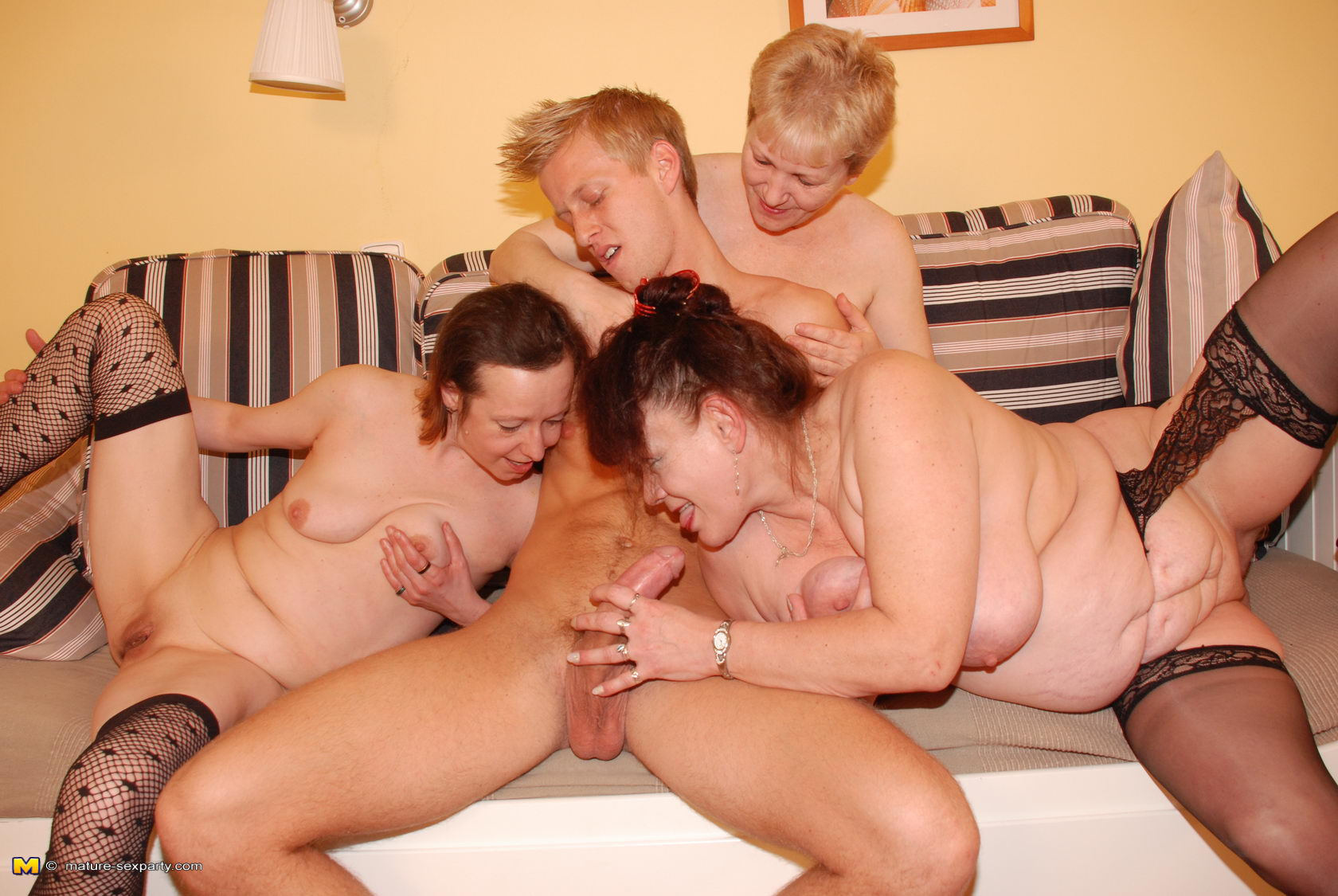 Horny mature women party