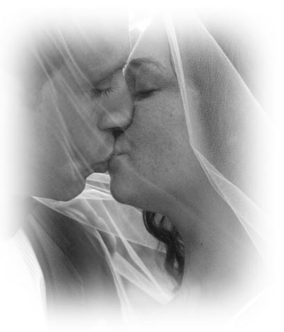 Couples body kissing