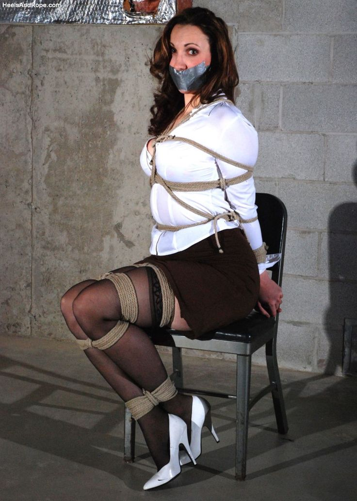 Heels and rope bondage