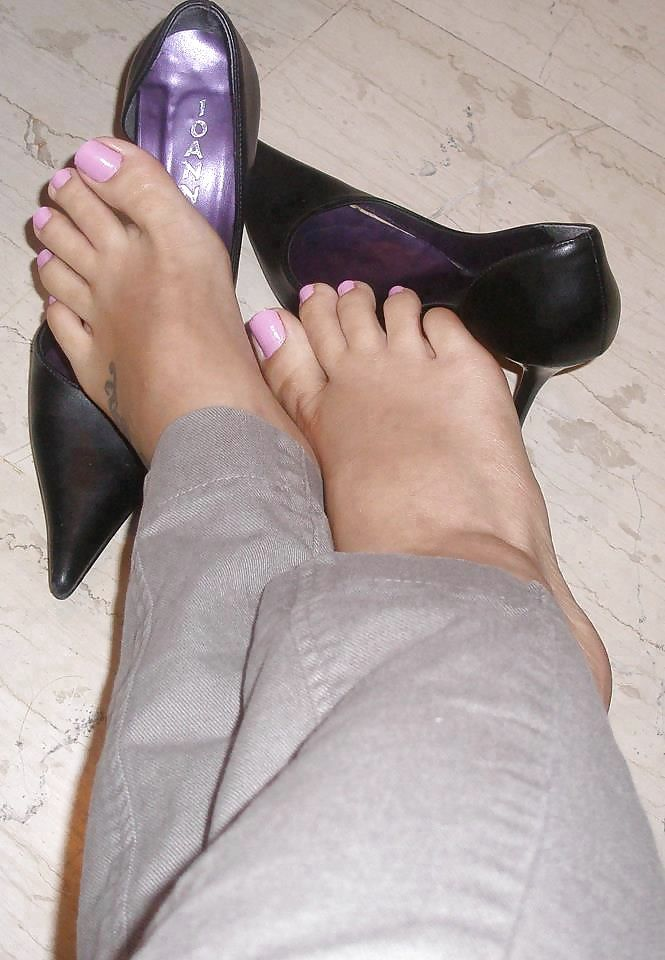 High heel feet porn