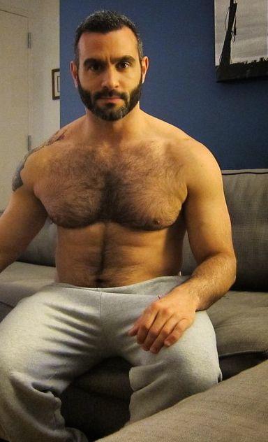 Hairy man sex
