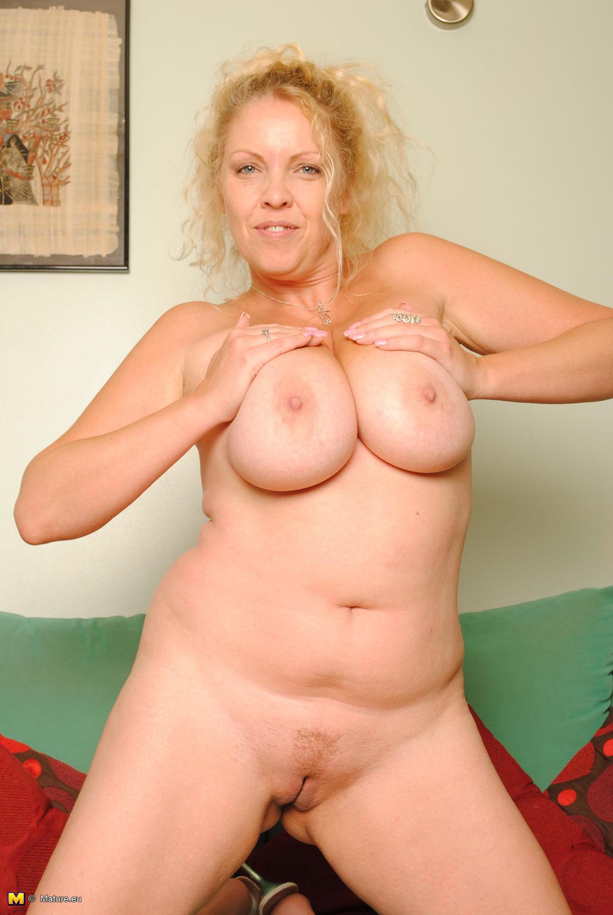 blonde big mature boobs Huge