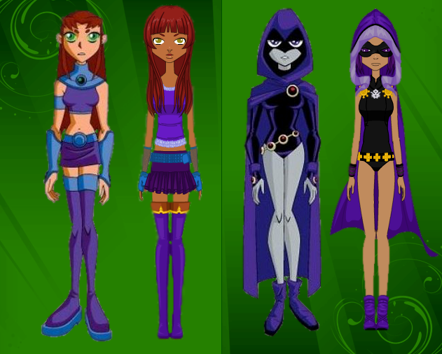 raven Teen and starfire titans go