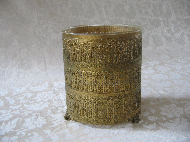 wastebasket Filigree gold