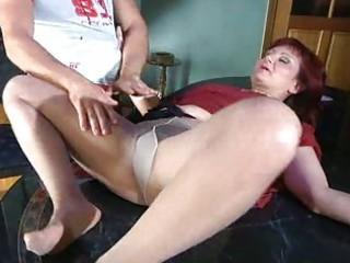 Pantyhose granny stockings