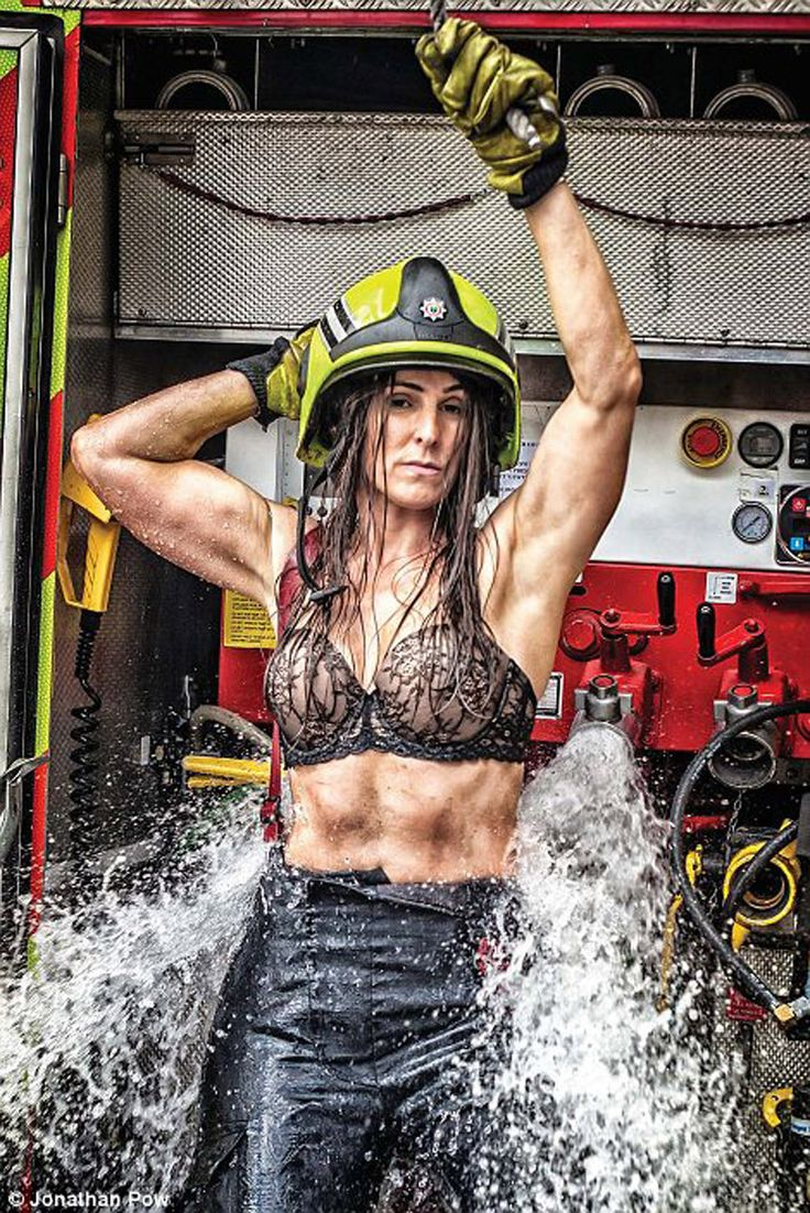 Sexy hot female firefighter