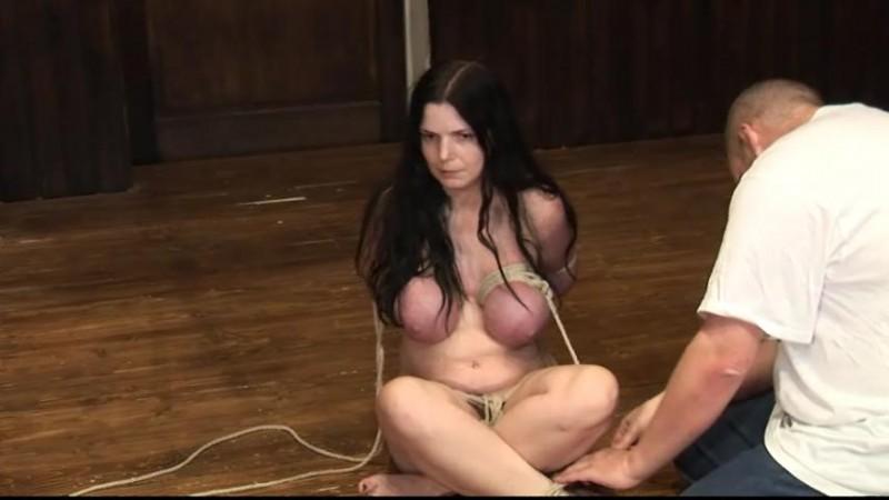 Tight breast bondage tit