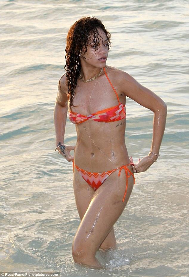 bikini thru Rihanna see barbados