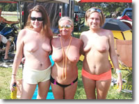 biker Naked girls at rally