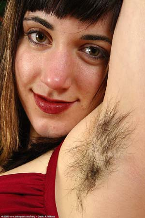 armpit women Hairy