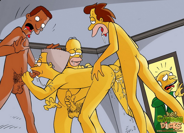 Gay just cartoon dick s simpsons