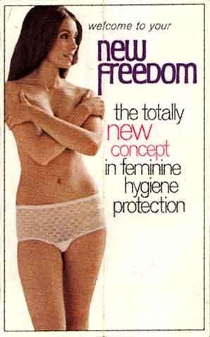 Woman wearing kotex pads