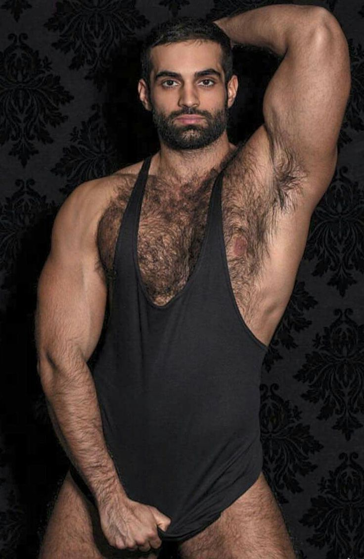 Hunky hairy gay man
