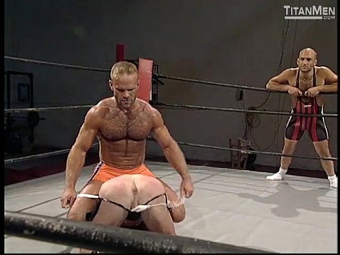 Nude male wrestling