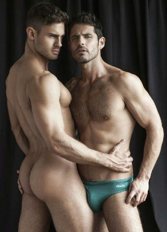 Nude gay couple naked