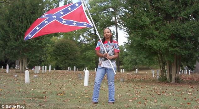 sex girl Confederate flag