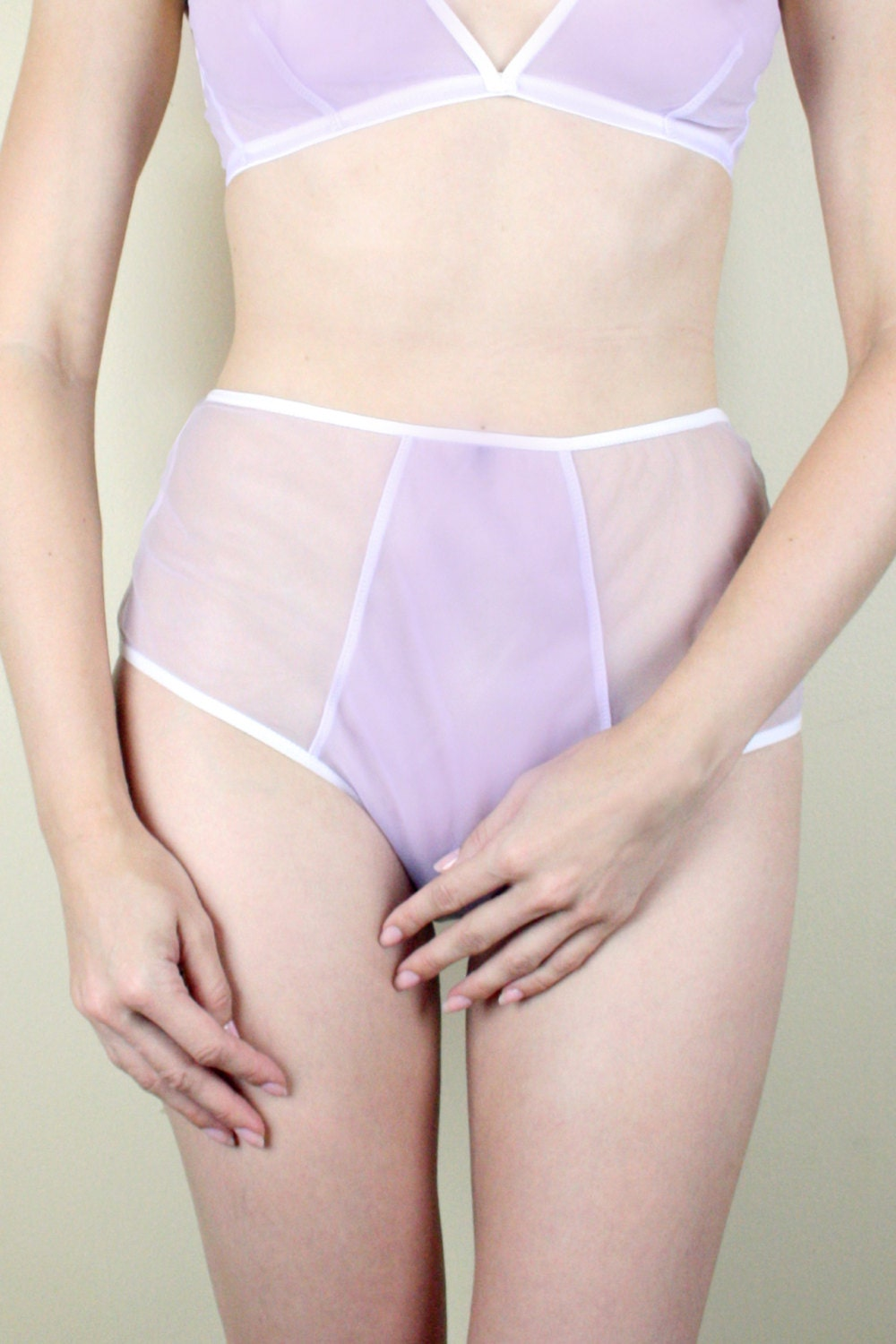 Sheer purple panties