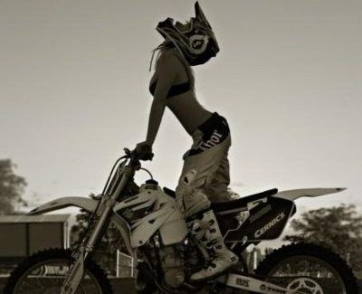 Naked girls riding dirt bikes