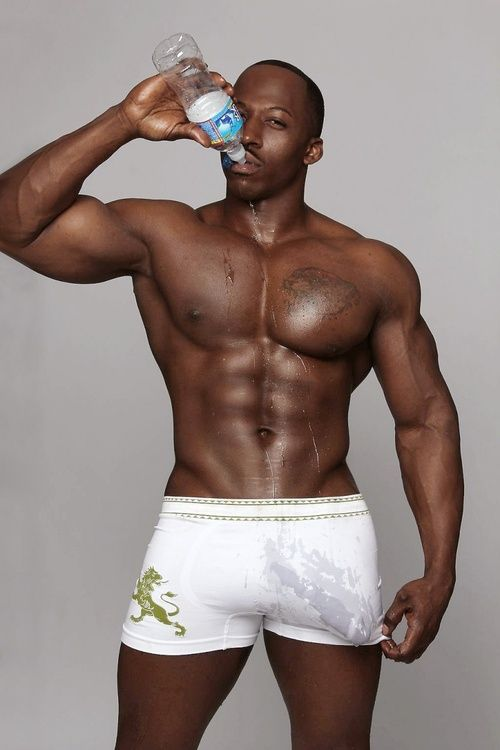 Big black gay muscle men