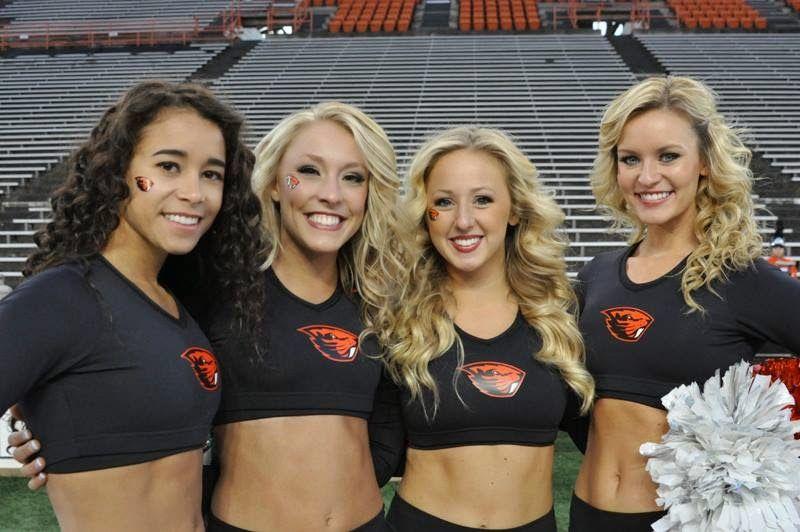 Oregon state basketball cheerleaders