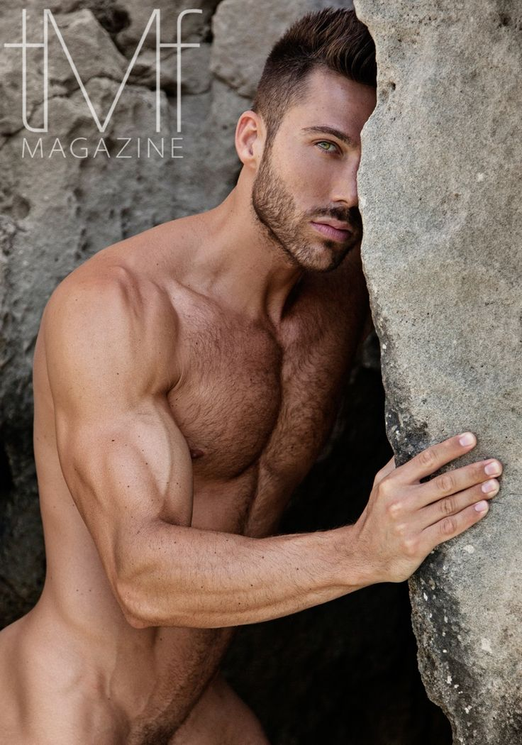 Nude male models frontal